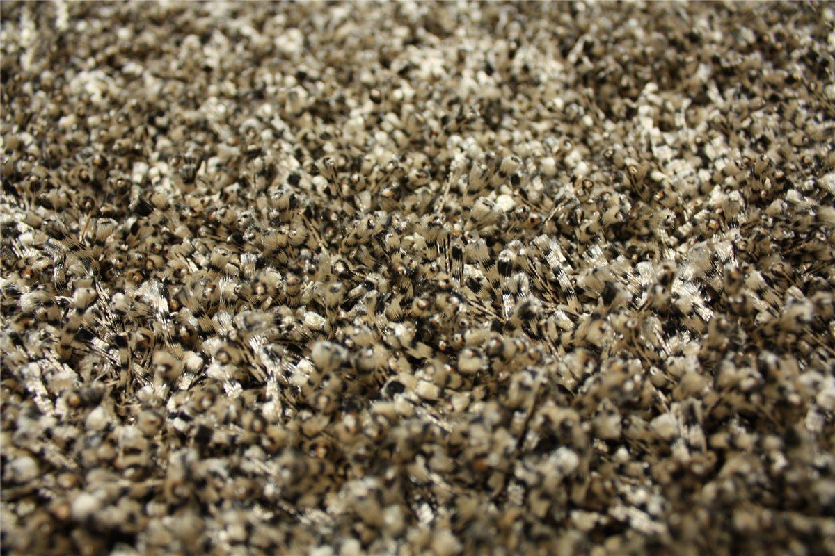 teppich shaggy hochflor 200x290 cm beige schwarz gepunktet ebay. Black Bedroom Furniture Sets. Home Design Ideas
