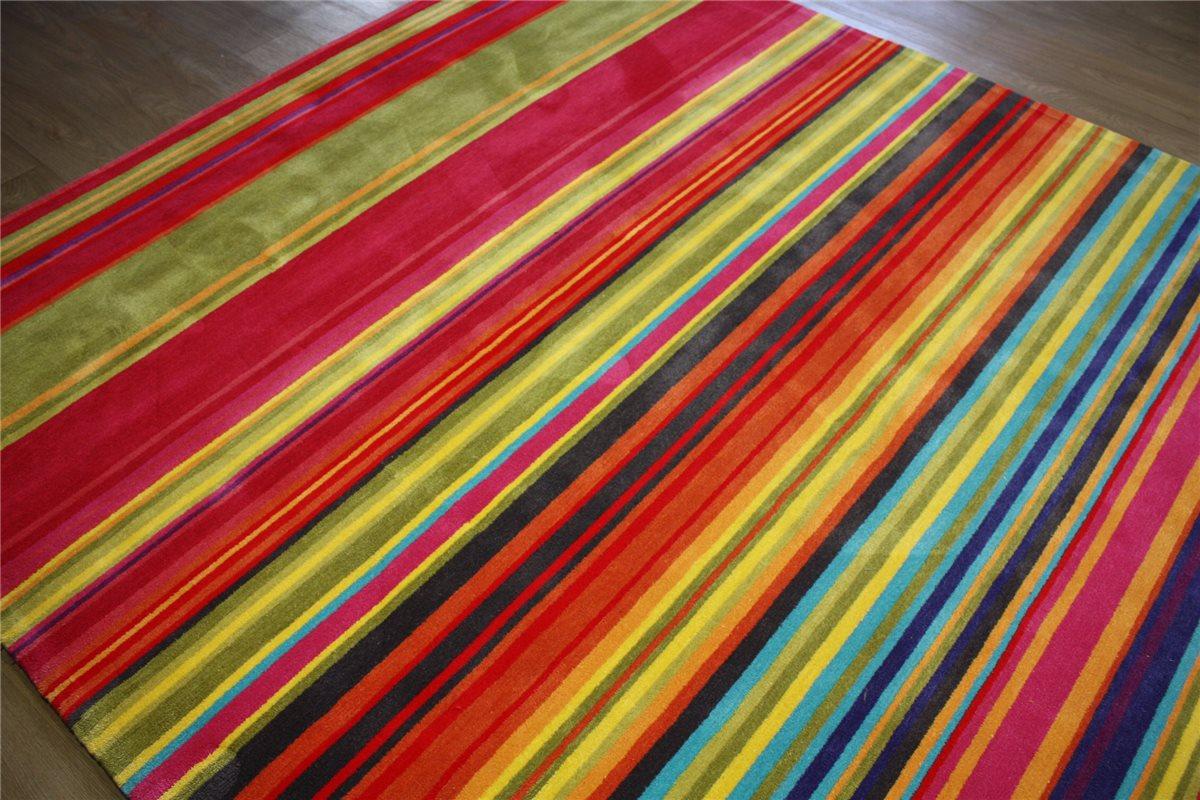 hochwertiger designer teppich 250x350 cm 100 acryl handgetuftet multi ebay. Black Bedroom Furniture Sets. Home Design Ideas