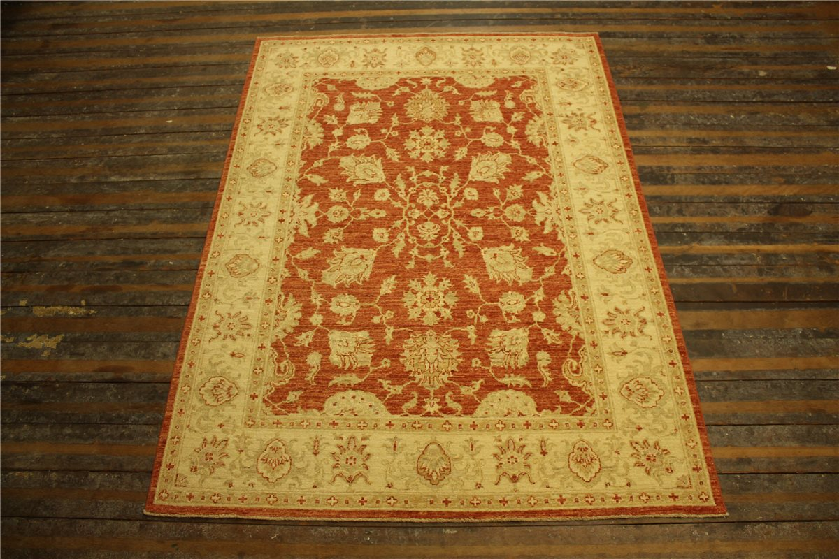 real rug brick manufacture 203x148 cm 100 wool hand knotted terra beige ebay. Black Bedroom Furniture Sets. Home Design Ideas