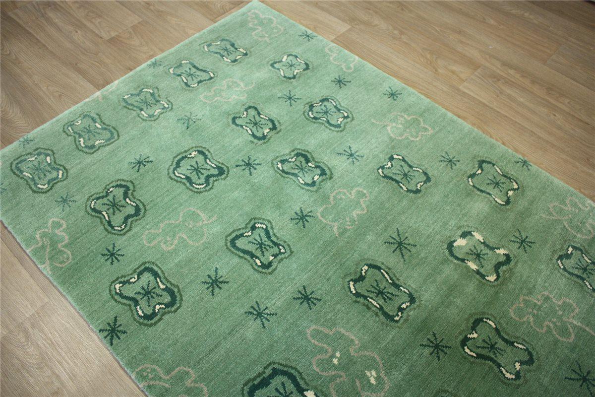 Teppich Original Nepal Tibet mit Seide ~ 140×200 cm ~ 100
