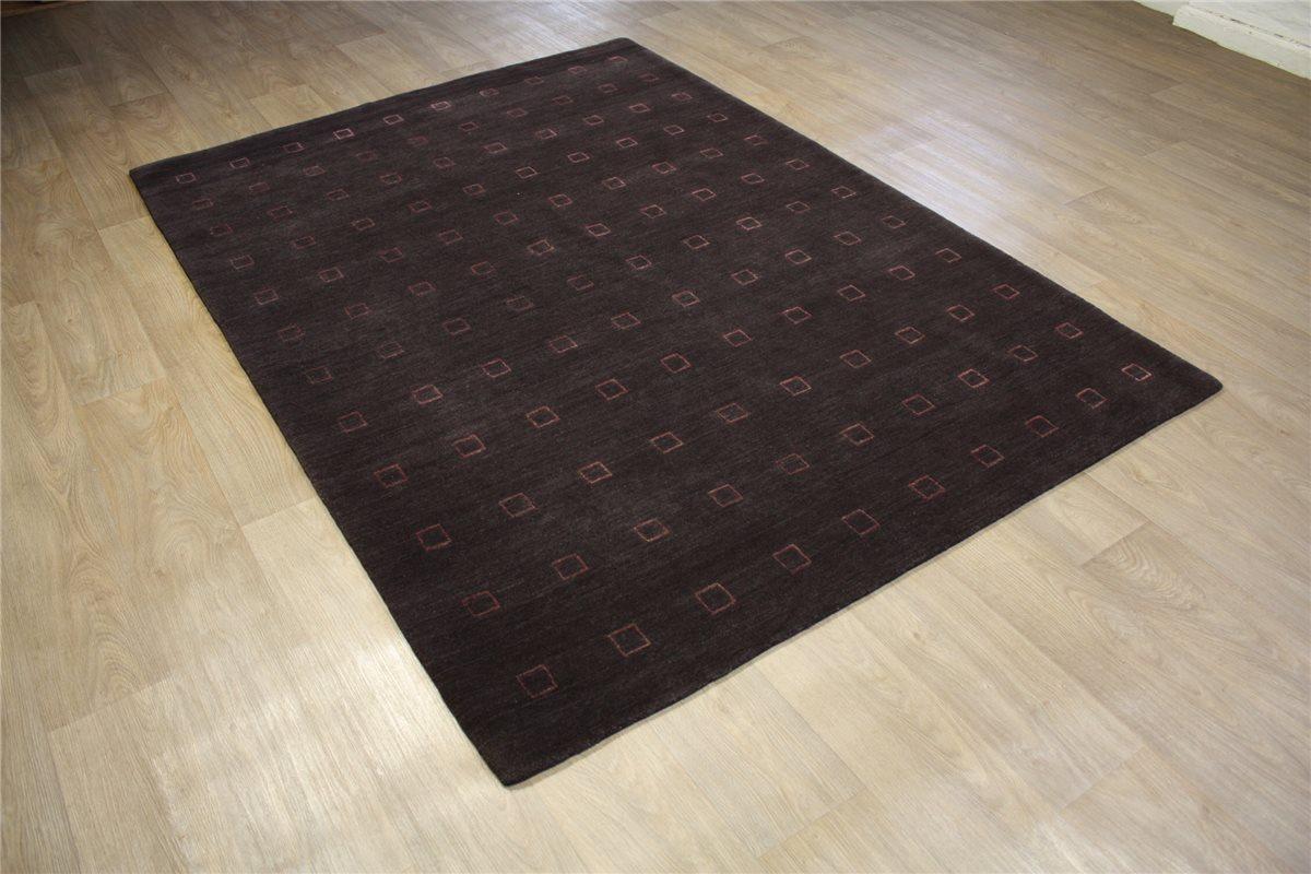 teppich original nepal fein mit seide 170x240 cm 100 wolle aubergine ebay. Black Bedroom Furniture Sets. Home Design Ideas