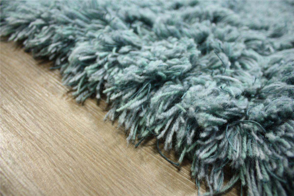 haute qualit tapis shaggy 200x200 cm 100 laine tiss la main bleu ebay. Black Bedroom Furniture Sets. Home Design Ideas