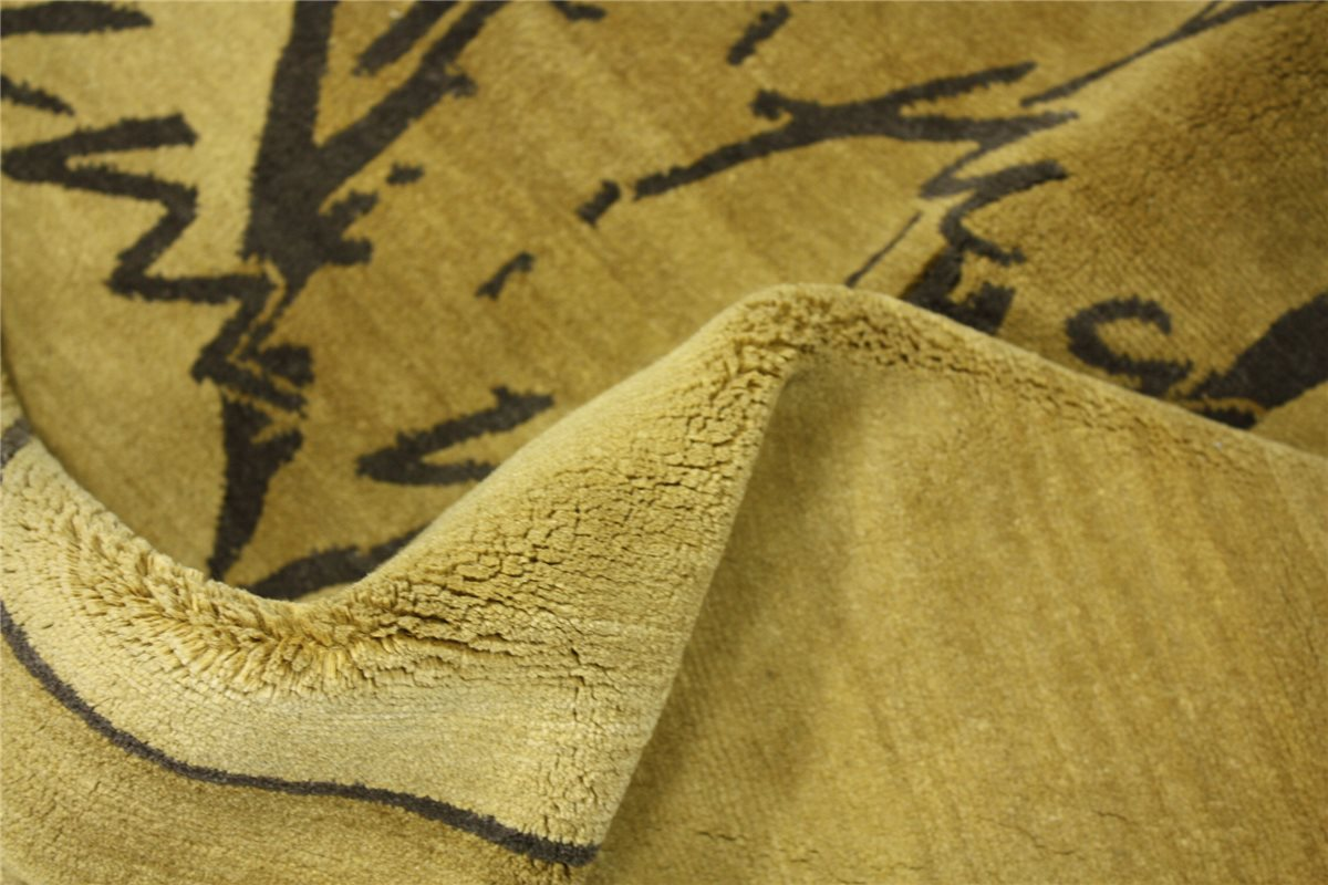 hochwertiger teppich original nepal tibet fein 150x150. Black Bedroom Furniture Sets. Home Design Ideas