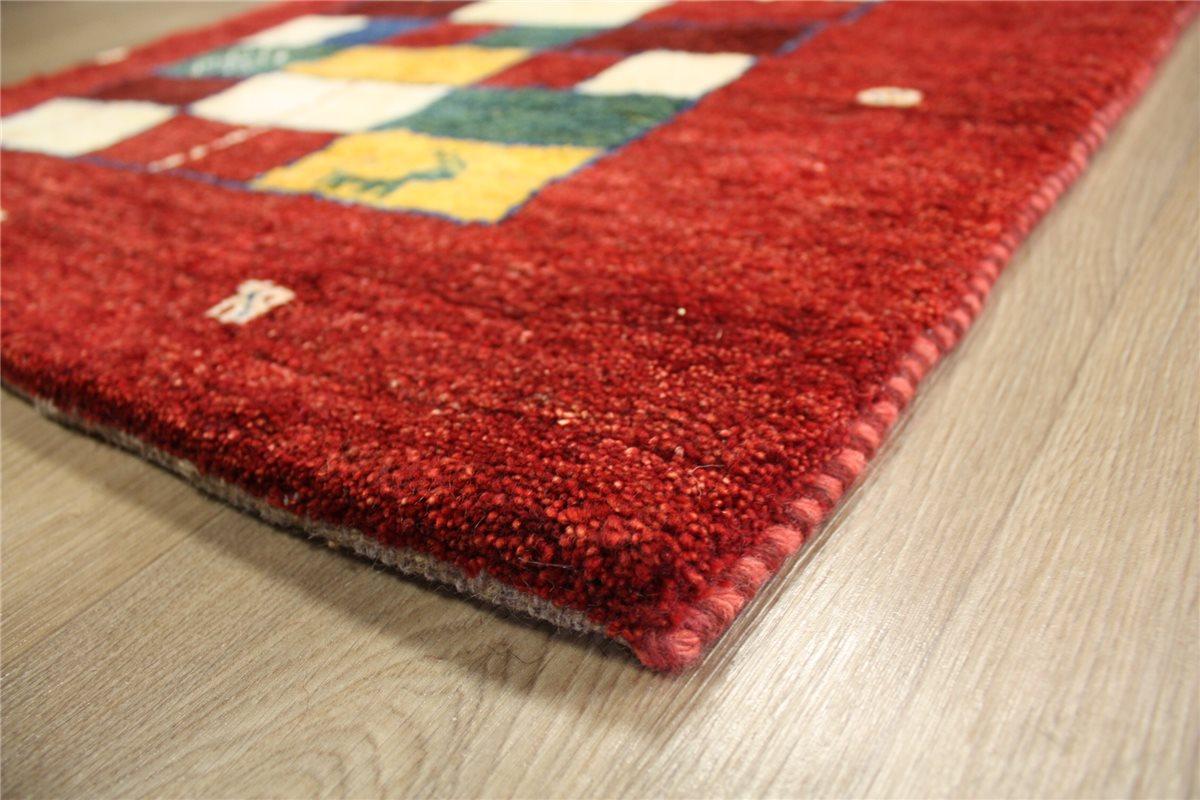 perser teppich gabbeh br cke 140x94 cm handgekn pft 100 wolle rot ebay. Black Bedroom Furniture Sets. Home Design Ideas