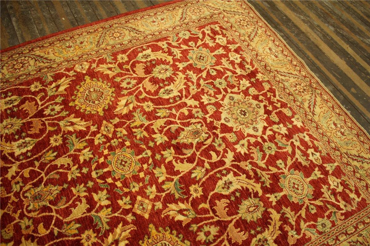 teppich ziegler pakistan rug tapis 262x222 cm 100 wolle handgekn pft gr n rot ebay. Black Bedroom Furniture Sets. Home Design Ideas