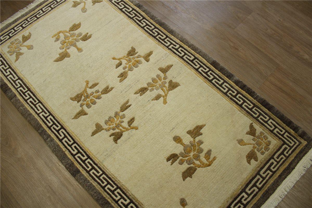 teppich original nepal fein br cke 90x160 cm 100 wolle natur beige braun ebay. Black Bedroom Furniture Sets. Home Design Ideas